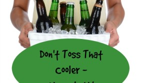 how to upcycle styrofoam coolers