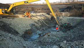coal ash spill site