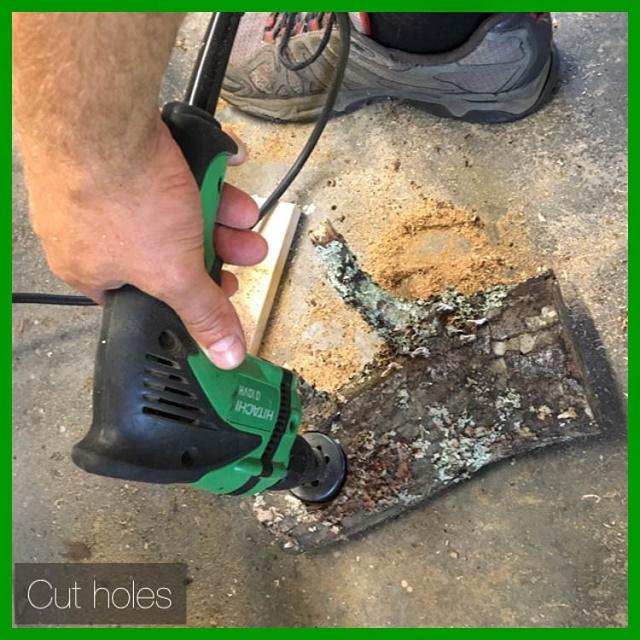 cut holes