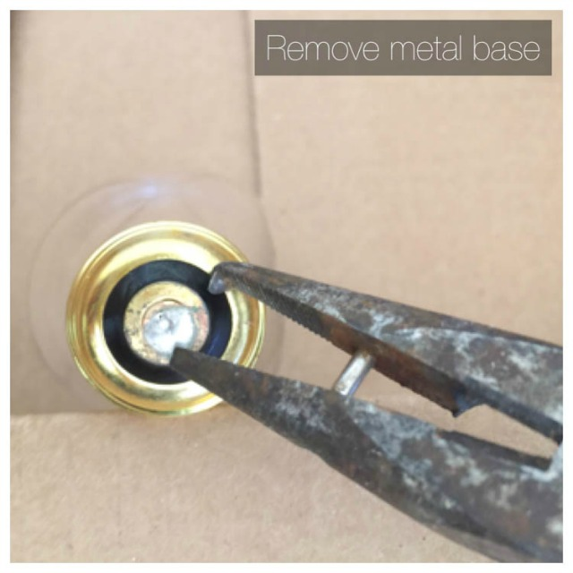 remove metal base of light bulb