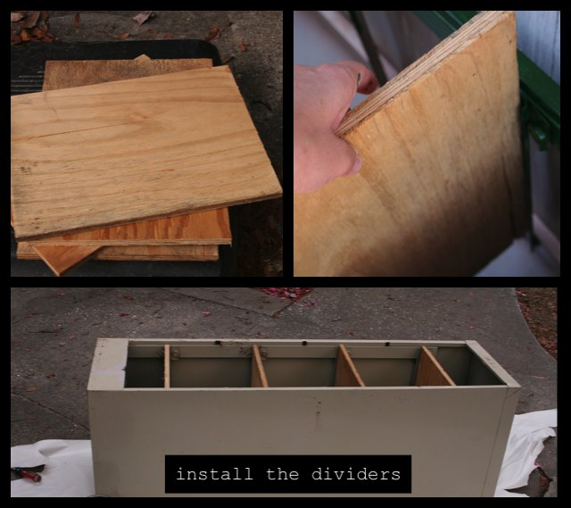 install wooden dividers