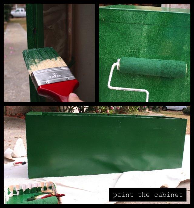 paint garden storage cabinet