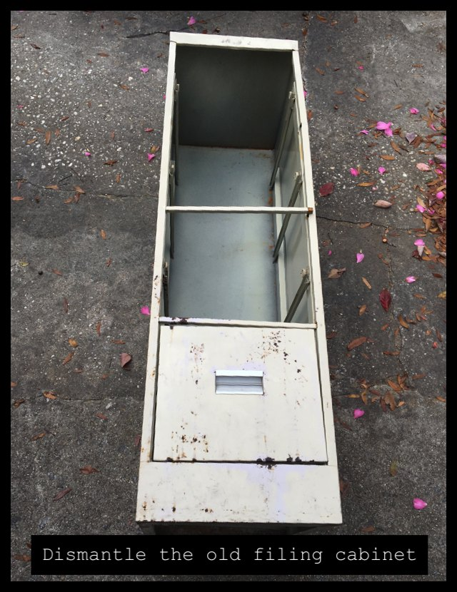 dismantle filing cabinet