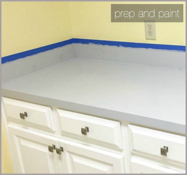 prep and paint countertops